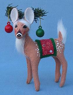 """Annalee 5"""" Glitter Dot Reindeer - Mint - 450012"""