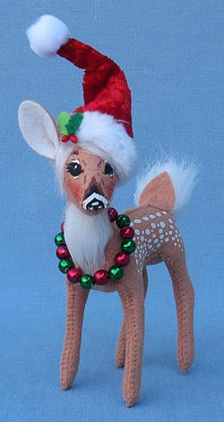"""Annalee 5"""" Cozy Christmas Fawn - Mint - 450112"""