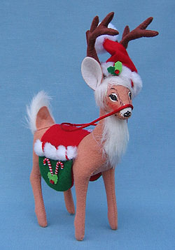 "Annalee 8"" Peppermint Twist Reindeer - Mint - 450308"