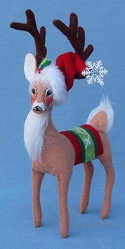 """Annalee 8"""" Snowflake Reindeer - Mint - 450312"""