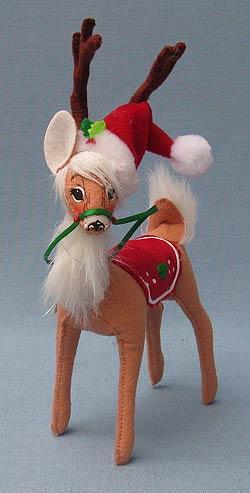 "Annalee 8"" Holly Berry Reindeer - Mint - 450509"