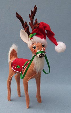 "Annalee 12"" Holly Berry Reindeer - Mint - 450809"