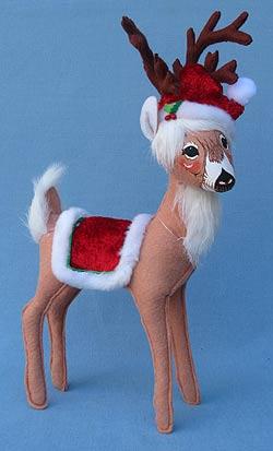 """Annalee 12"""" Cozy Christmas Reindeer - Mint - 450912"""