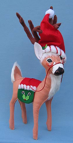 "Annalee 16"" Peppermint Twist Reindeer - Mint - 451008"