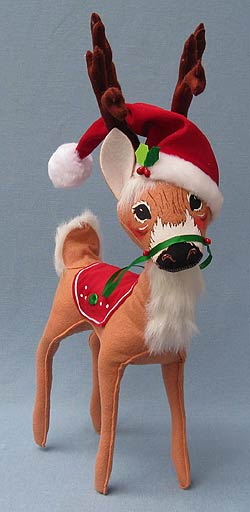 "Annalee 16"" Holly Berry Reindeer - Mint - 451009"
