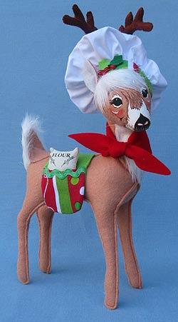 """Annalee 12"""" Reindeer Chef - Mint - 451012"""