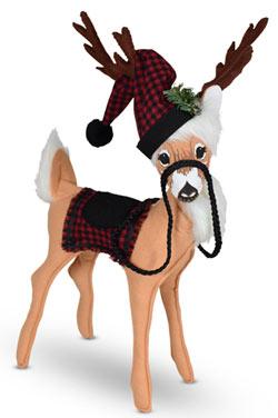 "Annalee 12"" Winter Woods Reindeer 2021 - Mint - 460421"