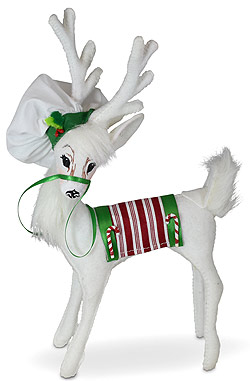 """Annalee 8"""" Christmas Candy Chef Reindeer 2021 - Mint - 460521"""