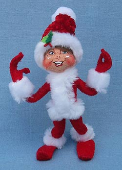 "Annalee 5"" Red Cozy Elf - Mint - 500012"
