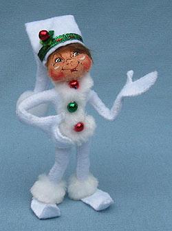 "Annalee 5"" White Ribbon Elf - Mint - 500110"