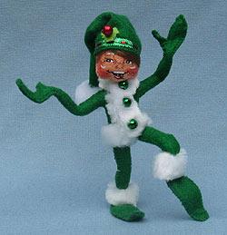 """Annalee 5"""" Green Ribbon Elf - Mint - 500210"""