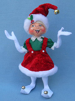 "Annalee 9"" Cozy Christmas Girl Elf - Mint - 500412"