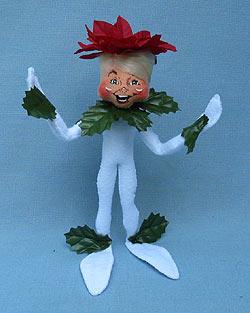 "Annalee 9"" Wannabe Poinsettia Elf - Mint - 500509"