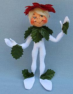 """Annalee 9"""" Wannabe Poinsettia Elf - Near Mint - 500509oxa"""