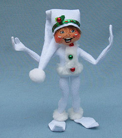 "Annalee 9"" White Ribbon Elf - Mint - 500510"