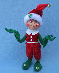 "Annalee 9"" Cozy Christmas Boy Elf - Mint - 500512"