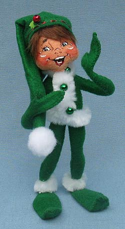 "Annalee 9"" Green Ribbon Elf - Mint - 500610"