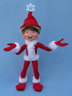 "Annalee 9"" Red Snowflake Elf - Mint - 500712"