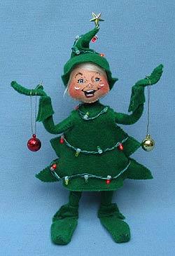 "Annalee 9"" Wannabe Lighted Christmas Tree Elf - Mint - 500809"