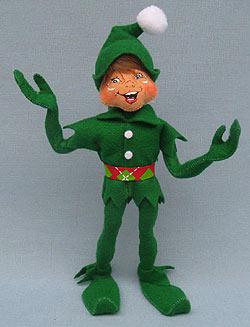 "Annalee 11"" Green Cheery Elf 2014 - Mint - 500814"