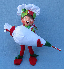 "Annalee 9"" Decorating Chef Elf with Pastry Bag - Mint - 500912"