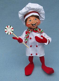 """Annalee 9"""" Baking Elf - Mint - 501110"""