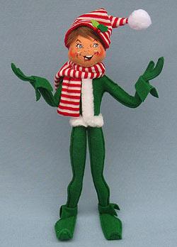 "Annalee 14"" Green MerryMint Elf 2014 - Mint - 501114"