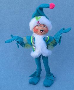 "Annalee 9"" Winter Whimsy Boy Elf - Mint - 501312"
