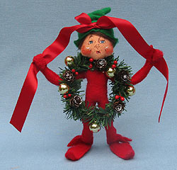 "Annalee 9"" Wannabe a Wreath Elf - Mint - 501410"