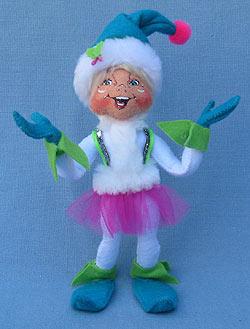 "Annalee 9"" Winter Whimsy Girl Elf - Mint - 501412"