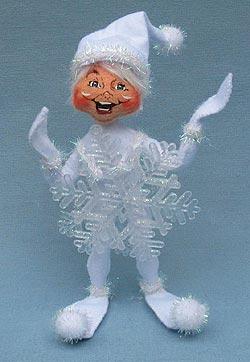 """Annalee 9"""" Wannabe a Snowflake Elf - Mint - 501610"""