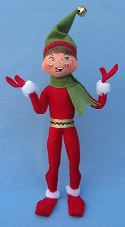 "Annalee 14"" Red Christmas Delights Elf - Mint - 502012"