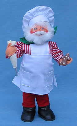 "Annalee 9"" Gingerbread Chef Santa with Pastry Bag - Mint - 504505"