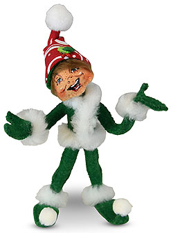 "Annalee 5"" Green Christmas Swirl Elf 2019 - Mint - 510019"