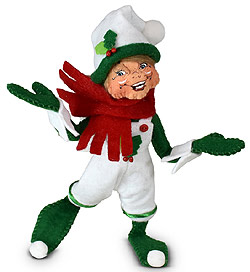 "Annalee 5"" Holiday Cheer Elf 2021 - Mint - 510121"
