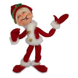 "Annalee 5"" Jinglebell Elf - Red - 2018 - Mint - 510218"