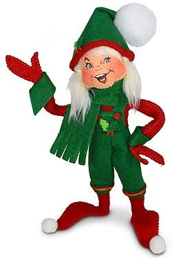 "Annalee 9"" Holiday Cheer Girl Elf 2021 - Mint - 510321"