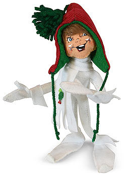 "Annalee 9"" White Traditional Elf 2019 - Mint - 510419"