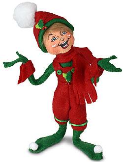 "Annalee 9"" Holiday Cheer Boy Elf 2021 - Mint - 510421"