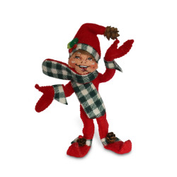 "Annalee 5"" Northwoods Elf - Red - 2018 - Mint - 510518"
