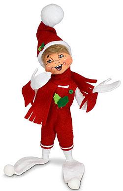 "Annalee 12"" Holiday Cheer Elf 2021 - Mint - 510721"