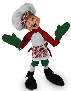 """Annalee 12"""" Peppermint Chef Elf with Oven Mitts 2019 - Mint - 510819"""