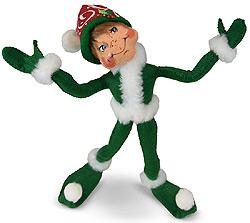 "Annalee 12"" Green Christmas Swirl Elf 2019 - Mint - 510919"