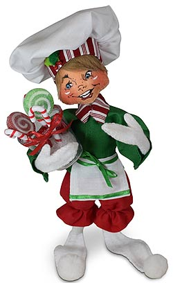 """Annalee 9"""" Christmas Candy Chef Elf 2021 - Mint - 511121"""
