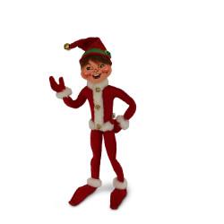 "Annalee 14"" Jinglebell Elf - Red - 2018 - Mint - 511418"