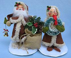 "Annalee 7"" Old World Mr & Mrs Santa - Mint - 5152-5153-96"