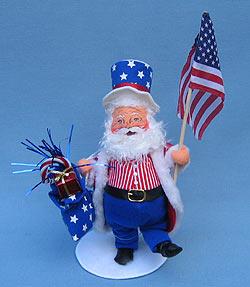"Annalee 9"" Patriotic Santa - Mint - 525603"