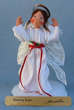 "Annalee 10"" Nativity Angel - Plaque Signed Annalee - Near Mint - 543091"