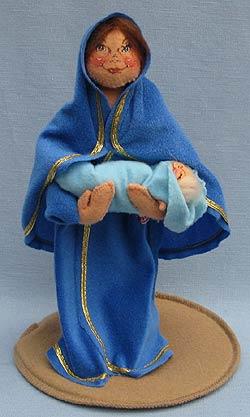 """Annalee 10"""" Nativity Mary Holding 3"""" Baby Jesus - Near Mint - 543197a"""