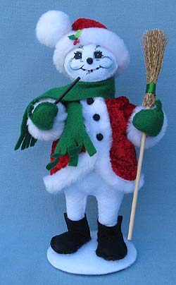 "Annalee 9"" Cozy Christmas Snowman - Mint - 550112"
